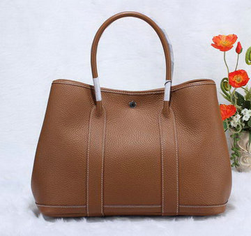 abbbc13e24cf Hermes Garden Party 36cm Tote Bag Grainy Leather Brown