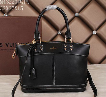 Louis Vuitton Suhali Leather LOCKIT PM Bags M43220 Black 97df9ccff5fbe