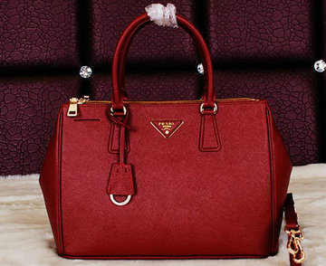 Prada Saffiano Leather Tote Bag BN2274 Burgundy