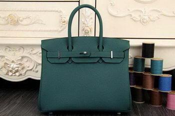 Hermes Birkin 35CM 30CM Tote Bag Original Leather HB35O Dark Green 2317f9d8e8d17