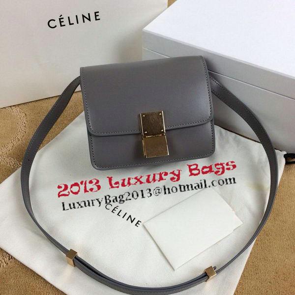 4a7086772481 Celine Classic Box mini Flap Bag Smooth Leather C11041T Grey