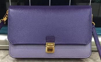 miu miu Madras Goat Leather Shoulder Bag RT0639 Purple