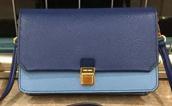 miu miu Madras Goat Leather Shoulder Bag RT0639 Royal&Light Blue