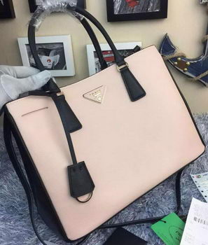 Prada Saffiano Calfskin Leather Tote Bag BN2274 Light Pink