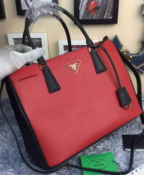 Prada Saffiano Calfskin Leather Tote Bag BN2274 Red