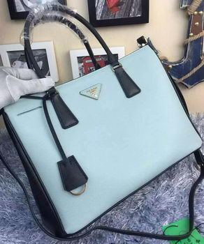 Prada Saffiano Calfskin Leather Tote Bag BN2274 SkyBlue