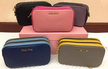 miu miu Original Leather Shoulder Bag RN0069