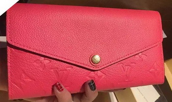 Louis Vuitton Monogram Empreinte Josephine Wallet M61369 Rose