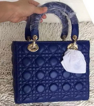 Dior Small Lady Dior Bag Sheeepskin Leather CD8239 Blue