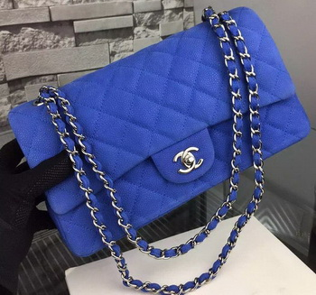 ba3c134d87e8 Chanel 2.55 Series Flap Bag Nubuck Cannage Pattern A1112 Blue