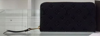 Louis Vuitton Monogram Empreinte Zippy Wallet M61035 Black