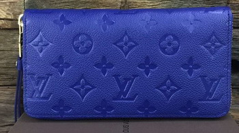 Louis Vuitton Monogram Empreinte Zippy Wallet M61035 Blue