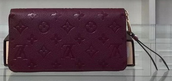 Louis Vuitton Monogram Empreinte Zippy Wallet M61035 Purple
