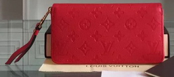 Louis Vuitton Monogram Empreinte Zippy Wallet M61035 Red