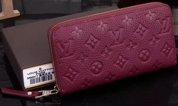 Louis Vuitton Monogram Empreinte Zippy Wallets M60017 Burgundy