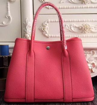 a2fe9a9ec75b Hermes Garden Party 36cm 30cm Tote Bag Original Leather Light Red