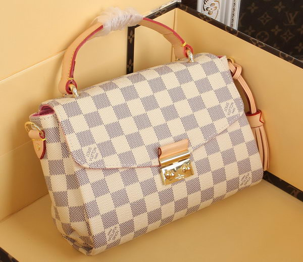 f96187cb3939 Louis Vuitton N41581 Damier Azur Canvas CROISETTE Bag