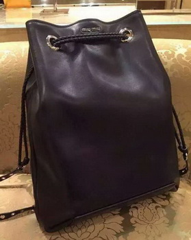 miu miu Nappa Leather Backpack 5BZ006 Black