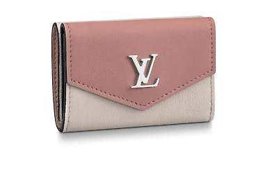 Louis Vuitton LOCKMINI WALLET M63978 ROSE BALLET BLANC MAITO NOIR