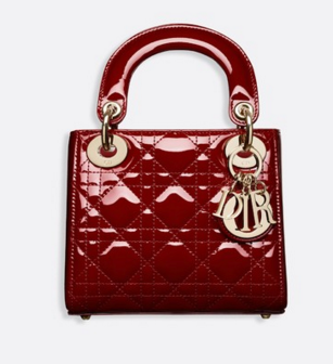 Dior MINI LADY DIOR CALFSKIN BAG M0505O burgundy
