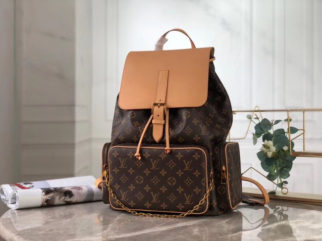 Louis vuitton original Monogram Canvas Larg Backpack M44658