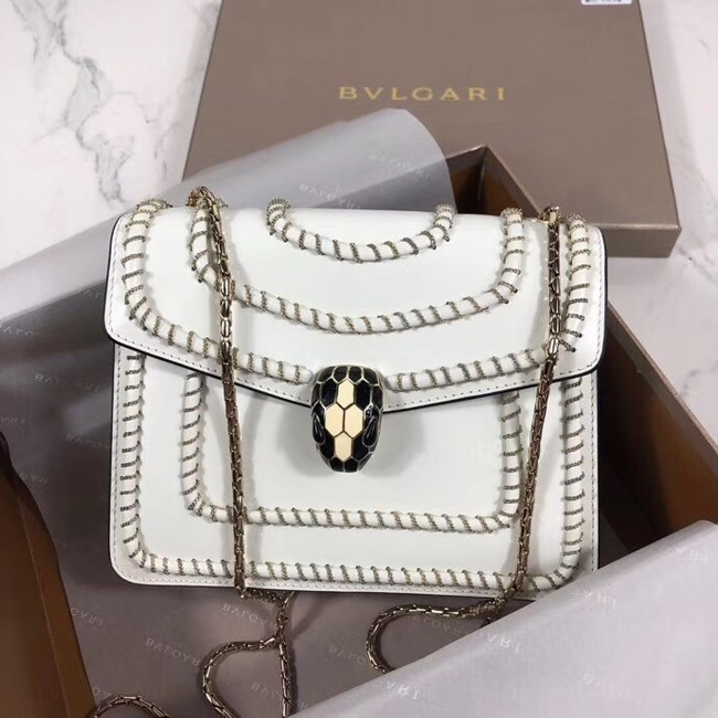 BVLGARI mini Shoulder Bag Calfskin Leather BG22889 white