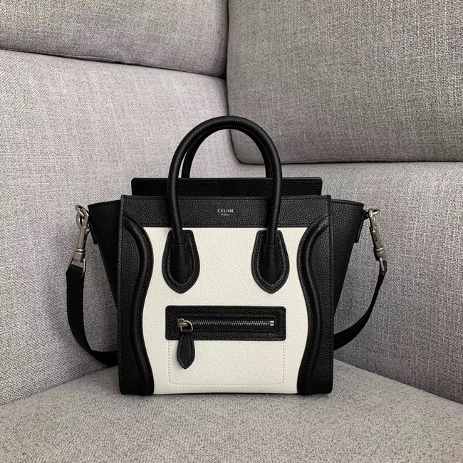 CELINE NANO LUGGAGE BAG IN LAMINATED LAMBSKIN 189243-1