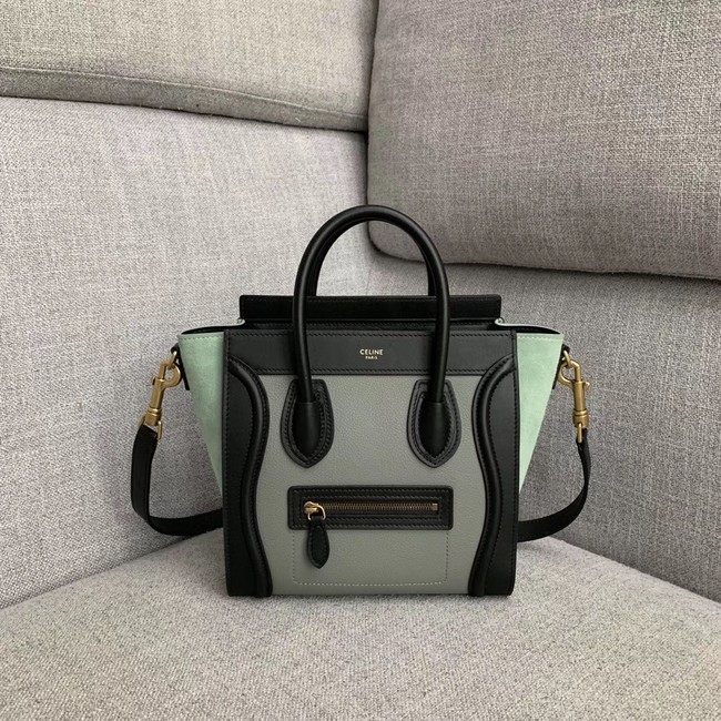 CELINE NANO LUGGAGE BAG IN LAMINATED LAMBSKIN 189243-7
