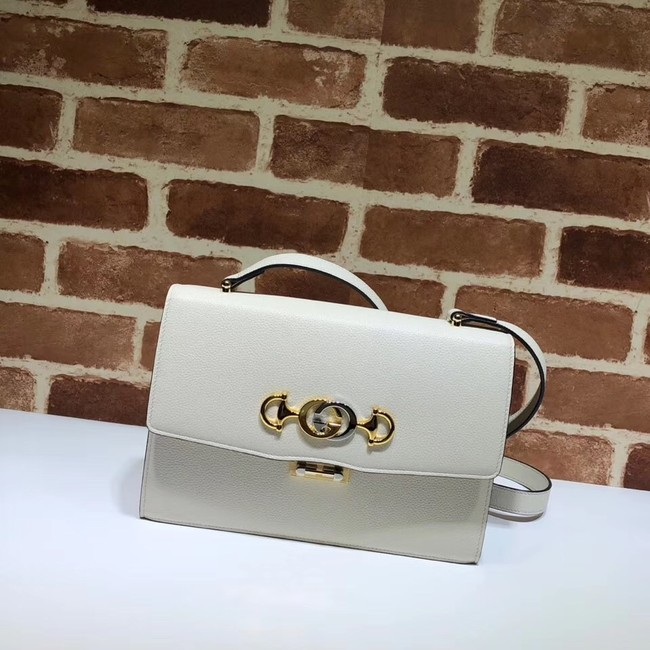 Gucci GG Leather Shoulder Bag 576388 white