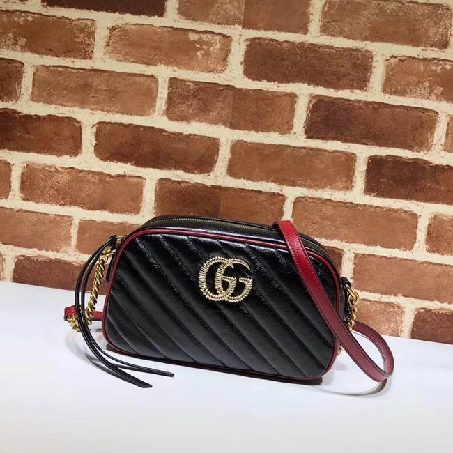 Gucci GG Marmont Matelasse Shoulder Bag A447632 Black