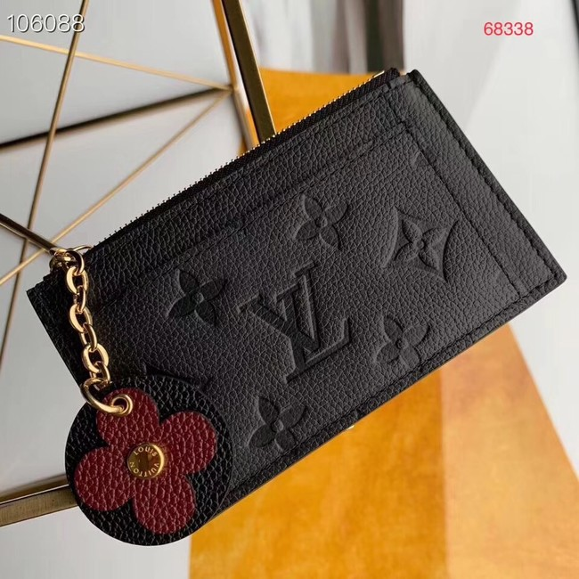 Louis Vuitton ZIPPED CARD HOLDER M68338 black