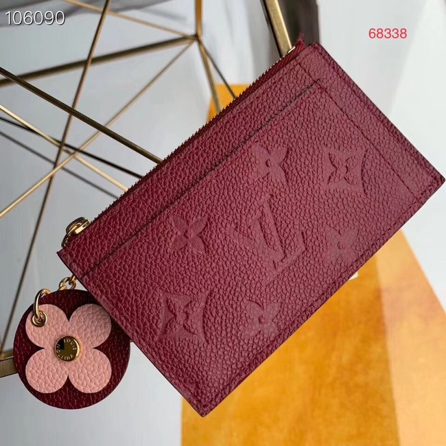 Louis Vuitton ZIPPED CARD HOLDER M68338 purplish