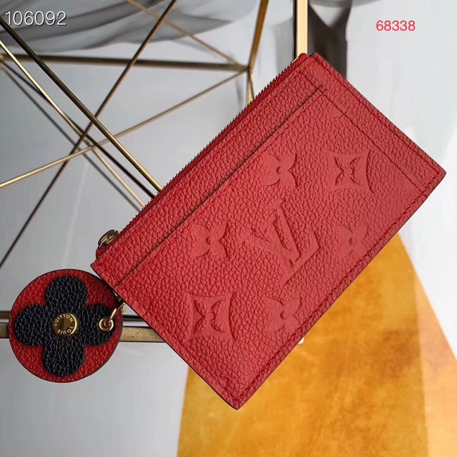 Louis Vuitton ZIPPED CARD HOLDER M68338 red