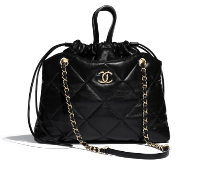 Chanel Classic Sheepskin Leather Shopping bag AS0985 black
