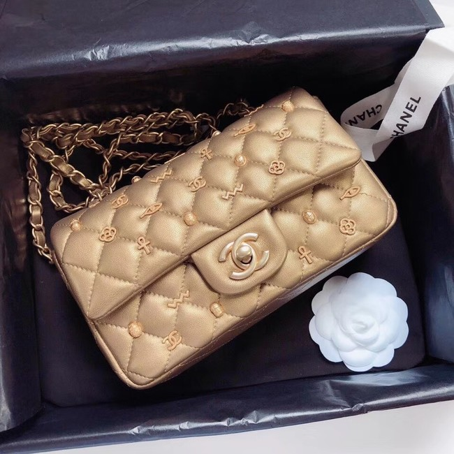 Chanel Classic bag Original Gold & Gold-Tone Metal A01116
