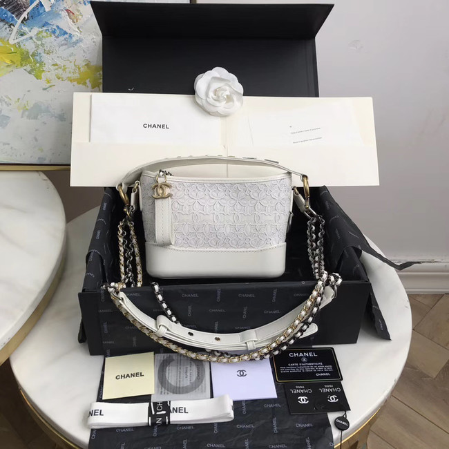 Chanel gabrielle small hobo bag A0865 white